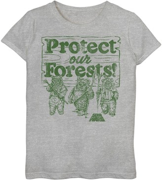 Star Wars Girls 7-16 Ewoks Protect Our Forests Camp Tee