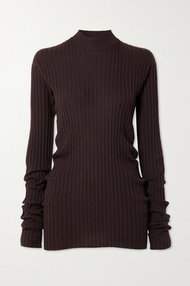 Bottega Veneta Ribbed-knit Sweater - Brown
