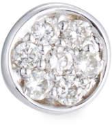 Sydney Evan Single Pave Diamond Disc Stud Earring