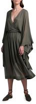 Agnona Batwing-Sleeve Faux Wrap Dress