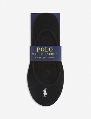 Polo Ralph Lauren Cotton-blend set of three liner socks