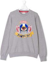 Fendi fendirumi print sweatshirt