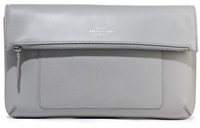 Smythson Panama Smooth And Textured-leather Leather Shoulder Bag