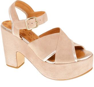 Chie Mihara Yendi Suede Ankle-Strap Platform Sandals