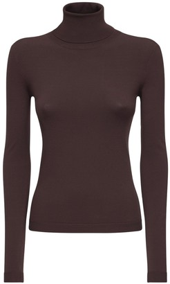 CASASOLA Turtleneck Viscose Blend Top