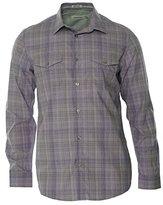 Calvin Klein Men's Liquid Cotton End On End Plaid Long Sleeve Woven Shirt