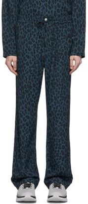 Needles Blue Leopard Trousers