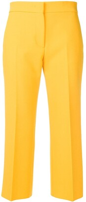 MSGM Cropped Pleated Trousers