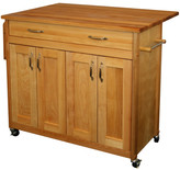Catskill Craft Mid Size Kitchen Island with Wood Top