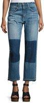 Rag & Bone Marilyn High-Rise Buckle Back Denim Jeans, Indigo