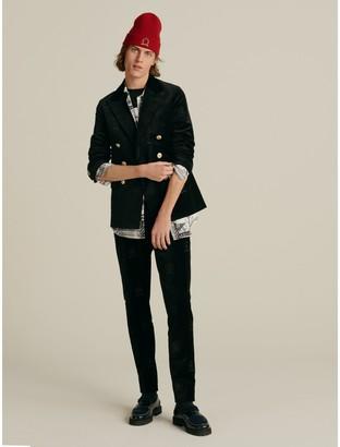 Tommy Hilfiger Crest Embroidery Slim Fit Velvet Blazer