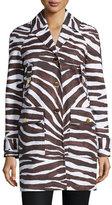 MICHAEL Michael Kors Safari-Print Cocoon Coat