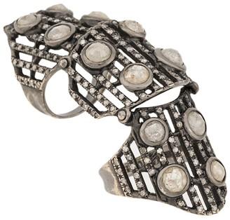 Loree Rodkin Embellished Armour Ring