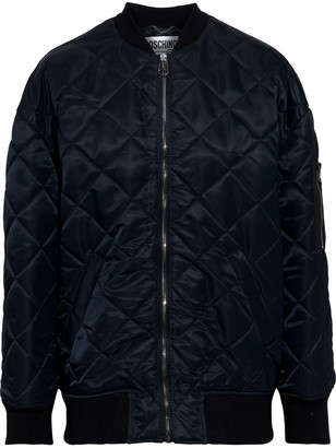 Moschino Bead-embellished Quilted Satin-shell Bomber Jacket