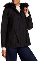 Desigual Multi Pocket Faux Fur Hoodie Jacket