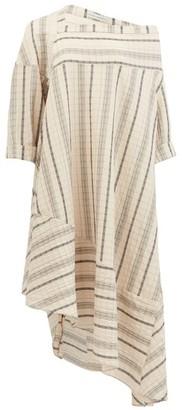 Palmer Harding Palmer//harding - Off-shoulder Striped Linen-blend Dress - Beige Stripe