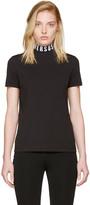 Versus Black Logo Collar T-shirt