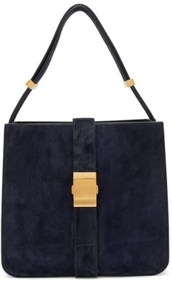 Bottega Veneta The Marie Suede Shoulder Bag - Womens - Navy