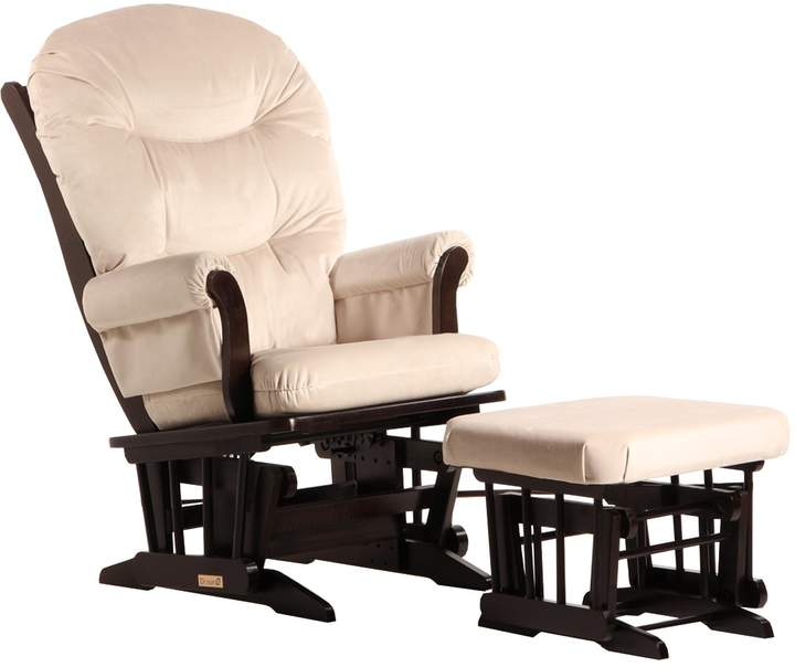 Dutailier Sleigh Glider and Ottoman Combo, Espresso/