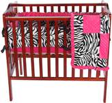Baby Doll Bedding Baby Doll Zebra Minky Port-a-Crib Bedding Set, Pink