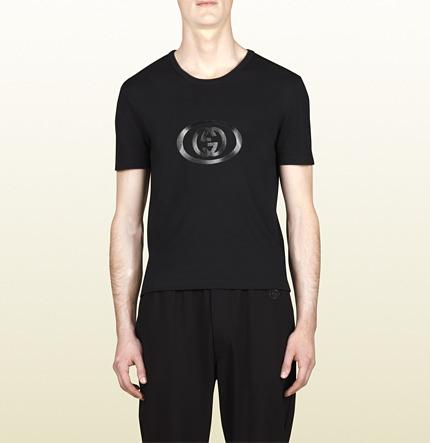 Gucci Black Cotton Jersey Cotton T-Shirt