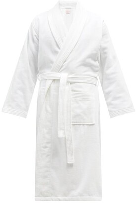 Derek Rose Cotton-velour Bathrobe - White