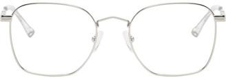 McQ Silver Swallow Metal Square Glasses