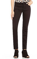 Jones New York Lexington Onyx Black Stretch Denim Straight-Leg Jeans