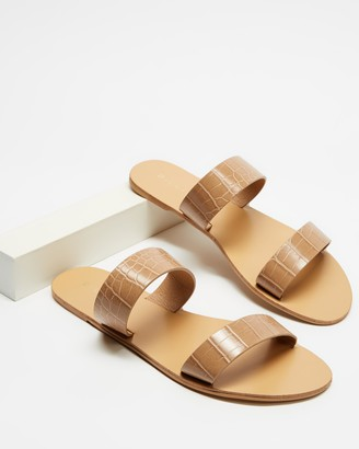 Billini - Women's Brown Flat Sandals - Costa - Size 5 at The Iconic