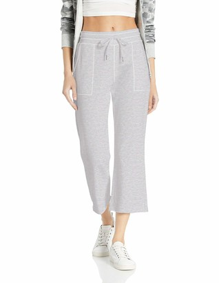 Betsey Johnson Women's Raw Edge Flare Crop Pant