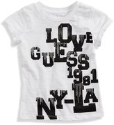 GUESS Rolled-Sleeve Logo Tee (2-6x)