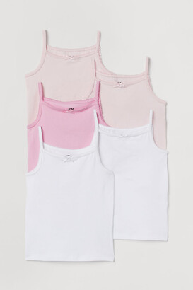 H&M 5-pack Jersey Tank Tops - Pink
