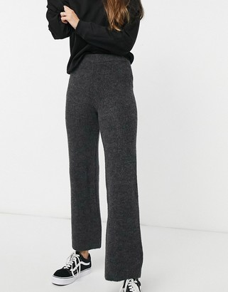 Topshop knitted trousers in slate grey