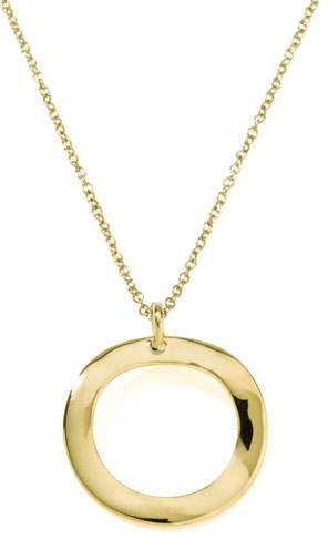Ippolita Mini Wavy Circle Pendant Necklace