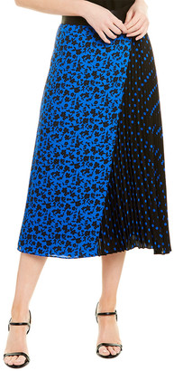Alice + Olivia Lilia Pleated Midi Skirt