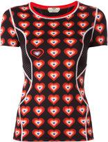 Fendi Heart-print T-shirt - women - Polyamide/Spandex/Elastane - 38