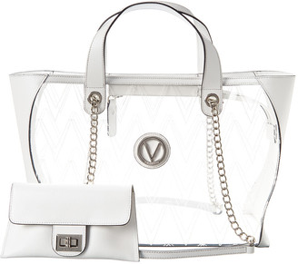 Valentino By Mario Valentino Kate Crystal Leather Tote