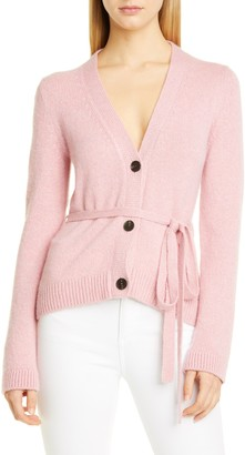 Brock Collection Belted V-Neck Cashmere Cardigan