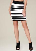 Bebe Striped Miniskirt