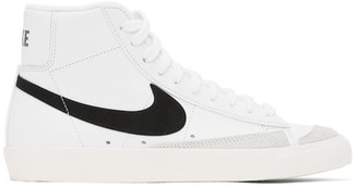 Nike White and Black Blazer Mid 77 Vintage Sneakers