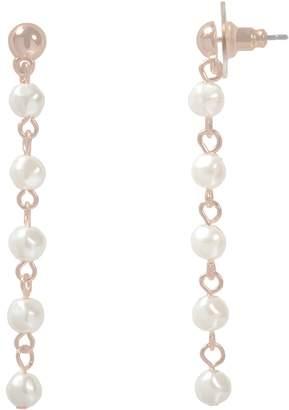 Lauren Conrad Simulated Pearl Beaded Nickel Free Linear Drop Earrings