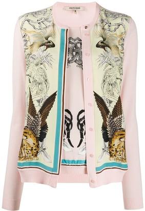 Roberto Cavalli floral and animal print cardigan