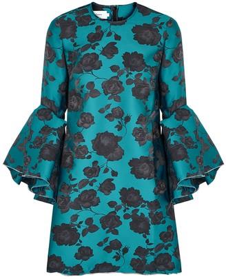 Marques Almeida Floral-jacquard satin-twill mini dress