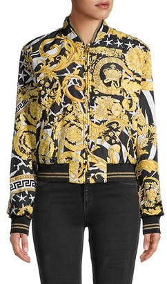 Versace Printed Long-Sleeve Jacket