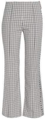 Sonia Rykiel Studded Checked Jacquard Kick-flare Pants