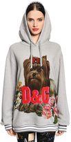 Dolce & Gabbana Dog & Logo Cotton Jersey Sweatshirt