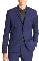 The Kooples Solid Stretch Two-Button Wool Sportcoat