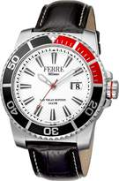 Ferré Milano Men's FM1G052L0011 Silver Dial with Black Leather Band Watch.