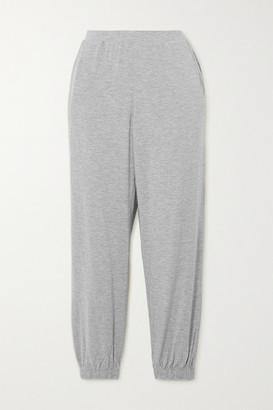 Skin Lizabeth Melange Stretch-jersey Track Pants - Gray