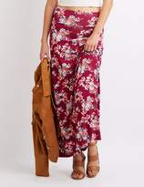 Charlotte Russe Floral Printed Maxi Skirt
